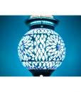 LHM15-BLUE-TD-oosterse hanglamp mozaiek, orientals